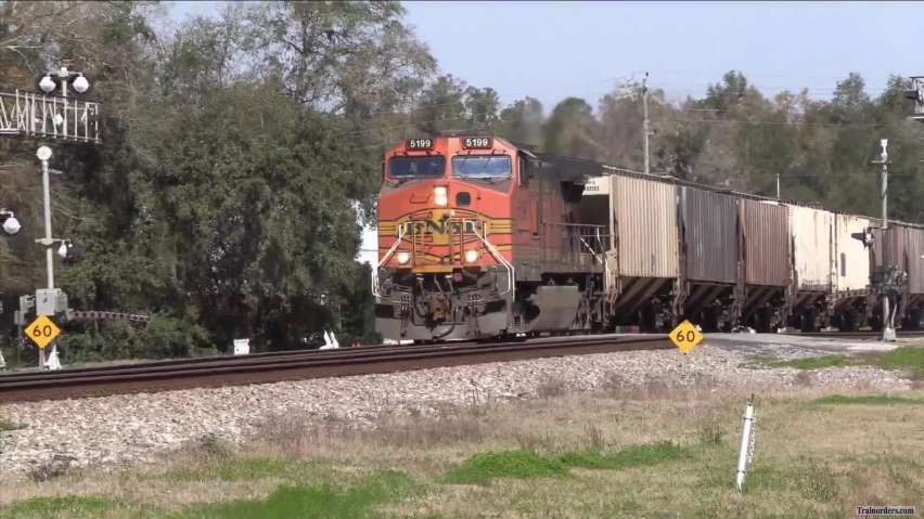 CSX Empty Phosphate train with BNSF power