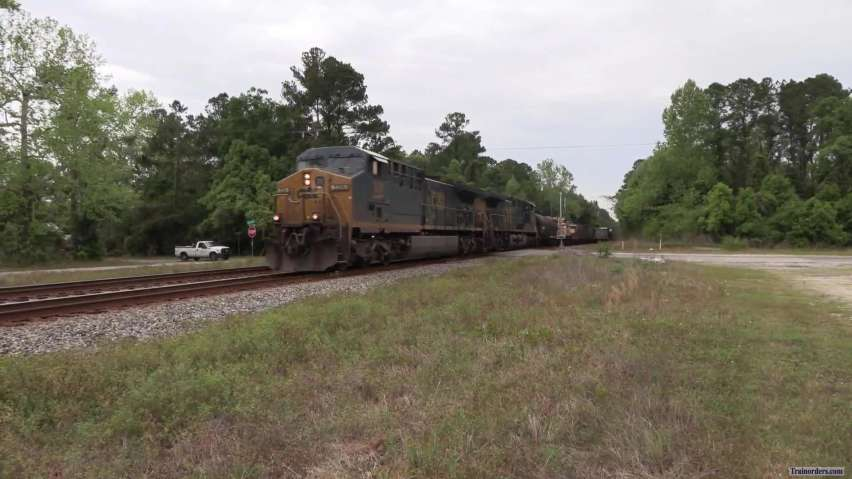CSX Freight with an interesting load