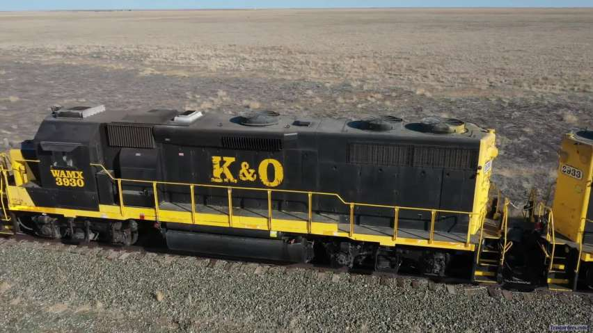 K & O on Colorado Pacific RR 18 April 2021 Haswell, CO