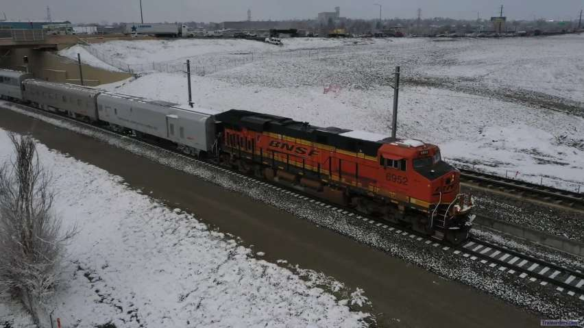 BNSF Track Geometry Train out of Denver 22 April 2021