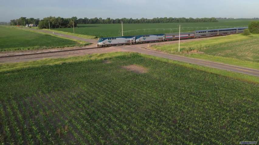 Amtrak Train 6, CZ, Daylight across Nebraska 19 June