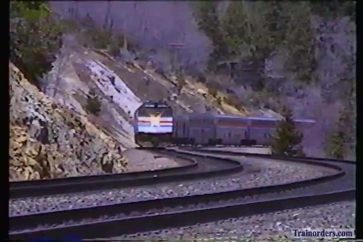 Amtrak #5 near Emigrant Gap 1991