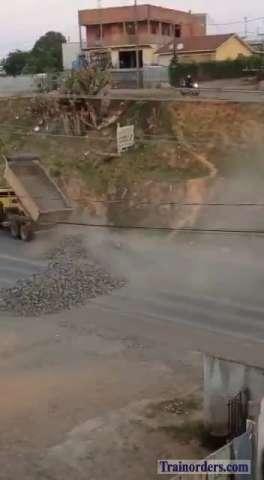 Huge truck driver strike in Brazil will affect the  railroads.