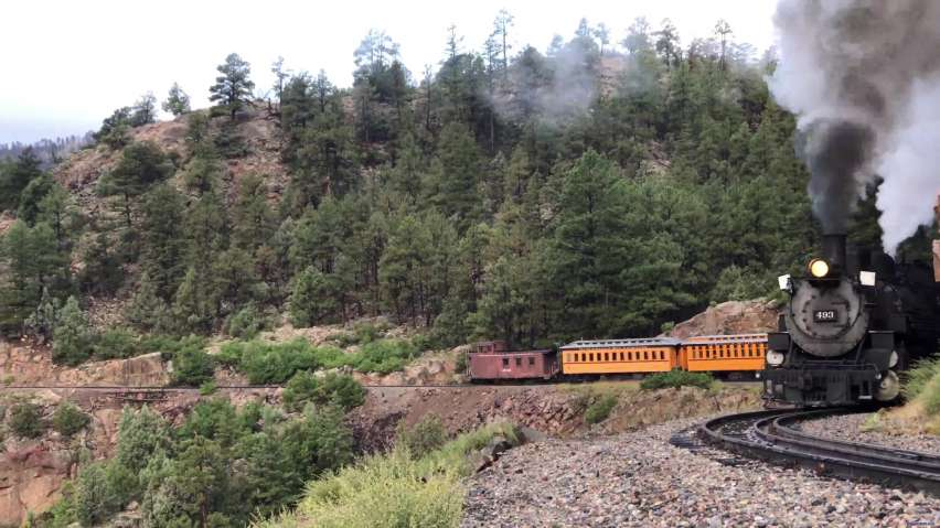 D&S 493 on Horseshoe Curve - a different perspective
