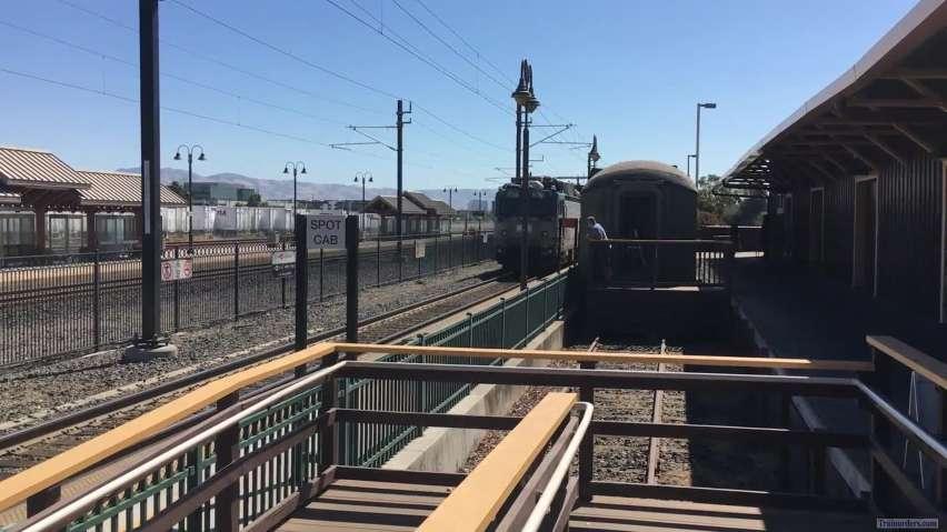Caltrain AEM7 Passing Santa Clara, CA