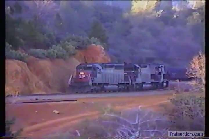 SP 7306 West moving the coal thru Weimar 1990