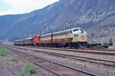 CP Business train in the Fraser River canyon.