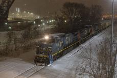 A bunch of photos of CN in deep Chicago snow; lots of old power