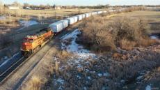Wind Energy Train to Bishop, WY, 18 Jan 2020